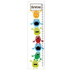 Childrens Growth Chart   Cute Little Monsters by KidOGrowthChart, $33.00