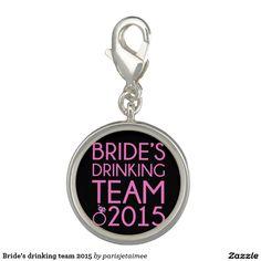 #wedding #drinkingteam #bride #bacheloretteparty #bridesmaid Bride's drinking team 2015 photo charm