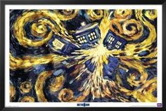 Doctor Who - Van Gogh's Exploding Tardis 36x24 Poster TV Show Art Print $69.99