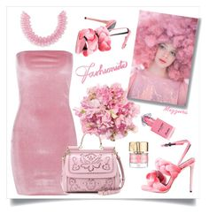 """""""Think Pink; Flower Power"""" by mizzura on Polyvore featuring Marco de Vincenzo, Ashish, Smith & Cult, Guerlain, Mary Katrantzou, Boohoo and Dolce&Gabbana"""