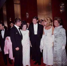 The Kennedy family (L-R Robert F. Kennedy, matriarch Rose Fitzgerald Kennedy, Edward Kennedy with wife Joan Bennett Kennedy and Ethel Skaekel Kennedy).