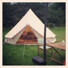 Bell tent glamping @ Masons campsite, Appletreewick, Yorkshire
