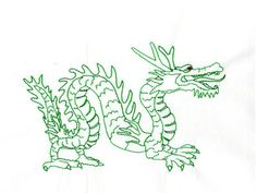 Please Repin!  Redwork Year of the Dragon Machine Embroidery Designs  http://www.designsbysick.com/details/rwyeardragon