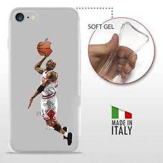 iPhone 7 TPU CASE COVER PROTETTIVA GEL TRASPARENTE NBA Basket Michael Jordan  | eBay