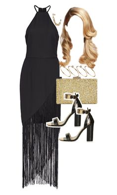 """Outfit for prom"" by ferned ❤ liked on Polyvore featuring Fame & Partners, ASOS, Sasha, Topshop and polyvorefamebabe"
