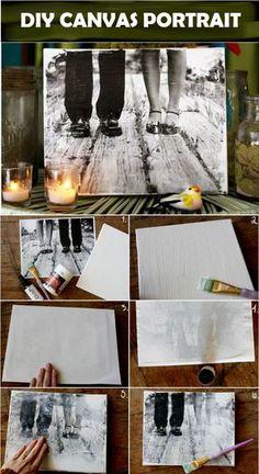 Cool DIY Canvas Portrait | DIY Wall ARt