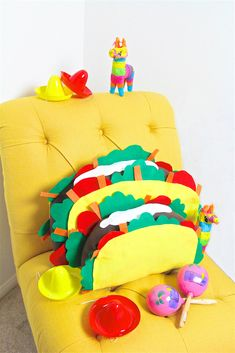 Cute DIY Taco Pillow