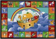 Noahs Ark baby nursery area rug - LOVE