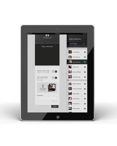 Digital Design—GUI, Layout, Interface / Clusterr iPad App (reissue 2012 by Omar Puig, via Behance