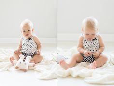 Zdjęcie dziewczynki z niemowlęcej sesji w LIRYKA Atelier