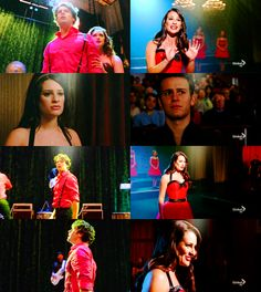 rachel and jesse Glee Wedding, Role Call, Lea And Cory, Glee Memes, Glee Cast, Tv Couples, A Series Of Unfortunate Events, Tv Show Quotes, Lea Michele