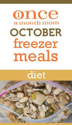 Freezer cooking menu for those watching their waist - Weight Watchers Points Plus included. Looks fabulous! Ww Recipes, Slow Cooker Recipes, Crockpot Recipes, Cooking Recipes, Freezer Recipes, Cooking Tips, Make Ahead Freezer Meals, Freezer Cooking, Gourmet