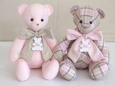 Urso Peti Petá Rosa Quadriculado P