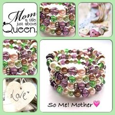 MotherModerne, mooie zelfgemaakte armbanden, glas parels, glas kralen , Memory wire, http://some-accessoires.nl!