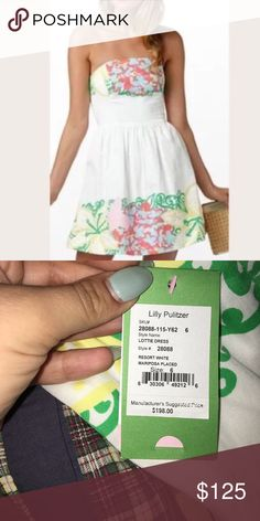 NWT Lilly Pulitzer 'Mariposa Placed Lottie' dress more pictures to come! Lilly Pulitzer Dresses Strapless