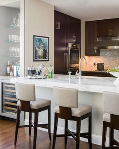 Back Bay Residence - contemporary - kitchen - boston - Terrat Elms Interior Design