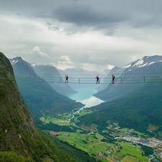 Via Ferrata Loen, Norway. Shot by: @larskorvald • #outsiderculture •