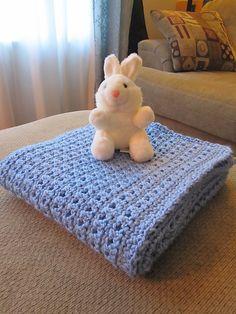 One Jumbo Skein Baby Blanket: free crochet pattern