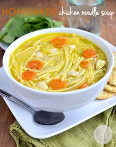 Homemade Chicken Noodle Soup | iowagirleats.com added fresh sage and parsley