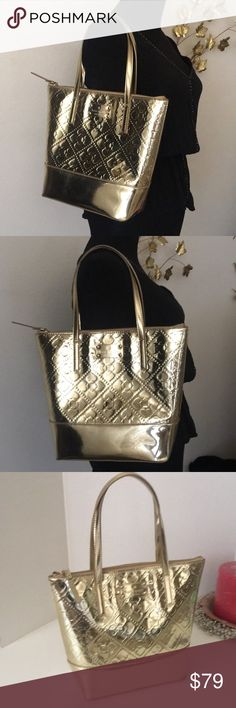 Kate Spade ♤ Gold Tote Kate Spade ♤ Gold Tote Color Gold Perfect Size 3aa58b3715337