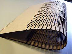 Laser cut bending #cnc #plywood #flexible #bent #bend #Industrial #product #design #connection #method