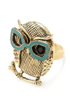 adorbs owl ring wearing two nerds in LOVE @Abby Hulbert