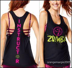 ZUMBA INSTRUCTOR Hyped-Loose Tank,RacerBack,Top,Tee DANCE!~fr.Convention RARE! S #ZUMBAZUMBAFITNESS #Z1T01264LooseTankTopTeeRacerback