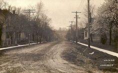 Loveland - Main Ave Loveland Ohio, Loveland Colorado, Bike Trails, Vintage Pictures, Historical Photos, Cincinnati, Old Photos, Summertime, Country Roads