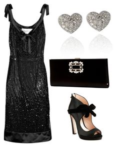 """""""Untitled #717"""" by mchlap on Polyvore featuring Valentino, Miu Miu, Roger Vivier and Swarovski"""