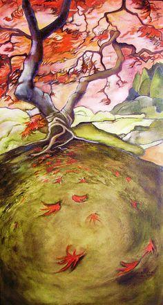 Japanese Maple At Portland Garden By Cassandra Dolen