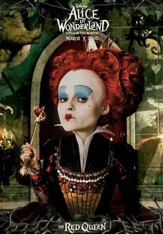 TB108. The Red Queen (II) / Alice in Wonderland / Movie Poster (2010) / #Movieposter / #Timburton
