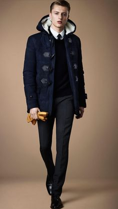 Down-Filled Suede Duffle Coat | Burberry