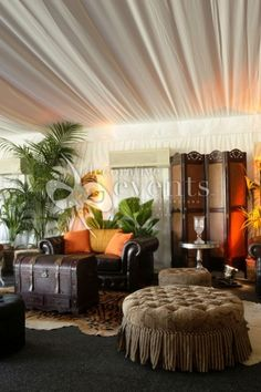 Out of Africa :: Decorative Events Exhibitions Safari Home Decor, Caribbean Decor, British Colonial Decor, African Home Decor, Out Of Africa, Home And Living, Living Rooms, Inspired Homes, West Indies