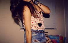 clothes, cute, fashion, floral, girl - inspiring picture on Favim.com