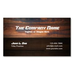 Wood Construction Business Cards. This is a fully customizable business card and available on several paper types for your needs. You can upload your own image or use the image as is. Just click this template to get started!