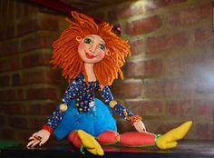 """""""Bailarina""""  Fabric doll.  Elsa Sanguino. 2014"""