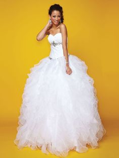 Alyce Paris #9111$590 Colors: White, Black/Turquoise, Fuchsia Fabric: Taffeta/Sparkle Tullealyceparis.com