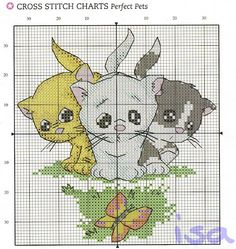 Punto cruz... Ponto cruz... Point de croix... Punto Croce... Cross stitich... Kreuzstitch...: Gatinho