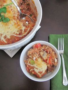 Veggie by Season: Supreme Pizza Quinoa Casserole