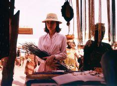 Audrey Hepburn, at market (1958) by LEO FUCHS
