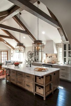40 Best Modern Farmhouse Kitchen Decor Ideas And Design Trend In If you are looking for [keyword], You come to the right place. Below are the 40 Best Modern Farmhouse Kitchen Decor Ideas And Des. Diy Home Decor Rustic, Rustic Kitchen Design, Farmhouse Style Kitchen, Modern Farmhouse Kitchens, Diy Kitchen, Cool Kitchens, Kitchen Ideas, Italian Kitchens, Rustic Farmhouse