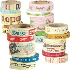 Cavallini Decorative Paper Tape - Everybody is now on the Washi Tape Bandwagon.  Which is fine.  The tape from Nihon is soooo expensive.  The new ones on the market now, I think are being made in China. The rolls are more price-friendly.
