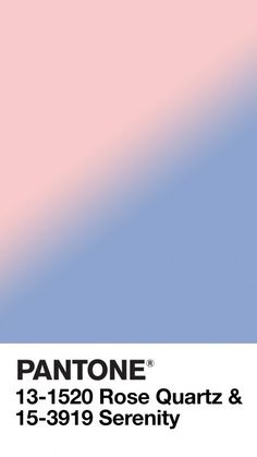 Pantone 2016 Rose Quartz Serenity Blue 2016 Color Of The Year