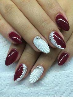 Winter Nails Designs - My Cool Nail Designs Winter Nail Designs, Christmas Nail Designs, Nail Art Designs, Xmas Nails, Christmas Nails, Pink Nails, Cute Nails, Pretty Nails, Nagellack Design