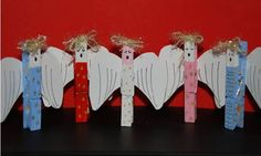 christmas angel crafts for kids | Christmas angel clothes pegs
