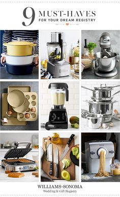Wondering where to start? These 9 registry favorites will help you get a quick start on your dream kitchen.