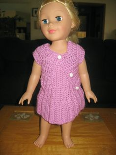 Brenda's Bric-a-Brac-free pattern for sweater for 28 inch doll