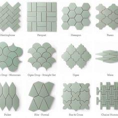 fireclay-tile (Alternatives to White Subway Tile) Hexagon Backsplash, Kitchen Backsplash, Kitchen Flooring, Mosaic Tiles, White Kitchen Cabinets, Base Cabinets, Upper Cabinets, White Kitchens, Dream Kitchens