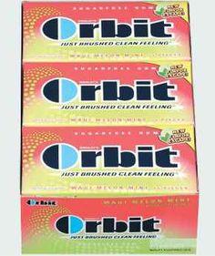 Orbit Maui Melon Mint is my all-time favorite gum flavor.