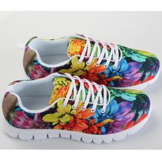 FORUDESIGNS Flower Flat Shoes Women ,Woman Flats Casual Shoes,Ladies Breathable Walking Shoes Brand Female Trainers Big  Shoes